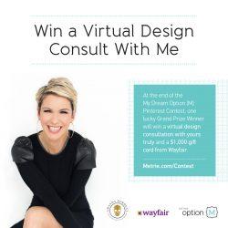 Win A Design Concept From Amanda Forrest + A $,1000 Wayfair Gift Card!